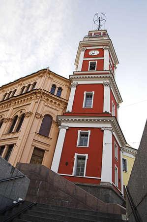 Dumskaya Clock Tower in Saint Petersburg, Russia.