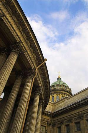 Kazansky Cathedral - 2 - in Saint Petersburg, Russia. Stock Photo