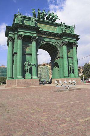 Triumphal Arch - Narva Triumphal Arch in Saint Petersburg, Russia.