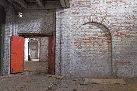 Abandoned Storehouse Building Stock Photo