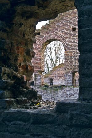 --------------Ruins of Ancient Buildings on the New Holland Island in Saint Petersburg, Russia.