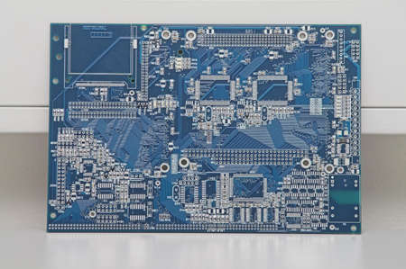 modules: Integrated Circuit - against a wall in a facility.