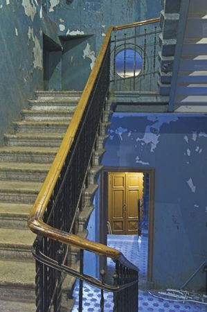 backstairs: Backstairs in un antico palazzo.