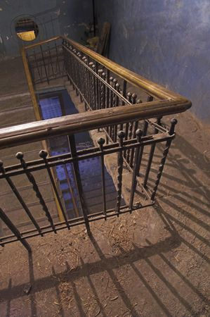 balustrades: Backstairs - 4 - in an apartment building.