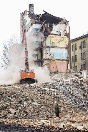 Destruction of Old Apartment Buildings