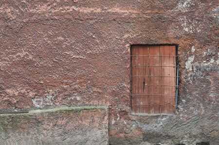 Wall of Old Building with Small Door photo