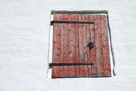 Window Shutter in Ancient Russian Monastery photo