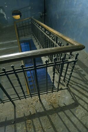 parapet wall: Old Backstairs in apartment building