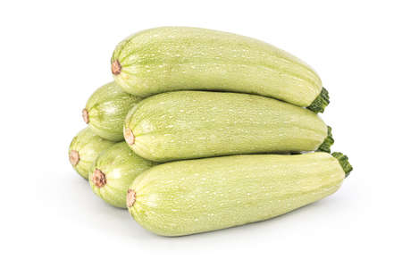 courgettes: Young fresh courgettes zucchini isolated on white