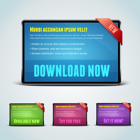 Set of 4 download banners for your website