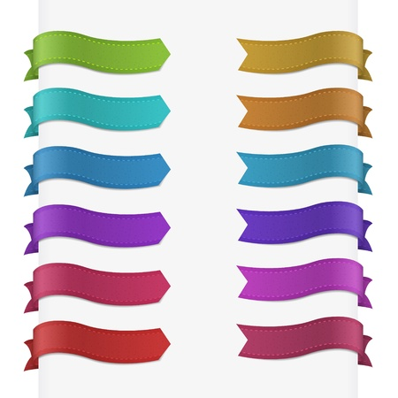 Set of 12 quality textured ribbons  Illustration