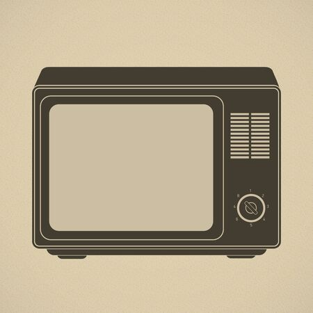 outmoded: Silhouette of retro tv set