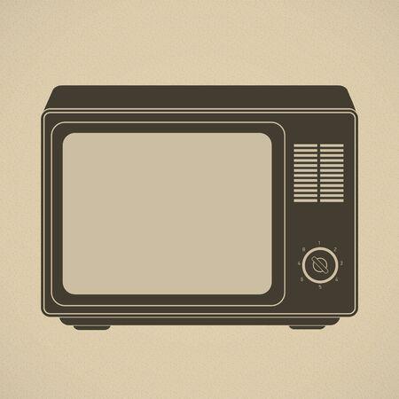 old tv: Silhouette of retro tv set