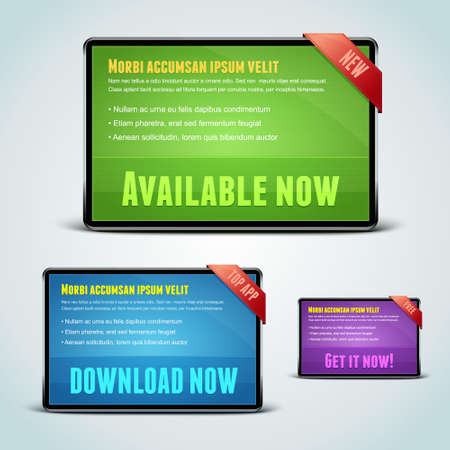 Set of 3 download banners for your website