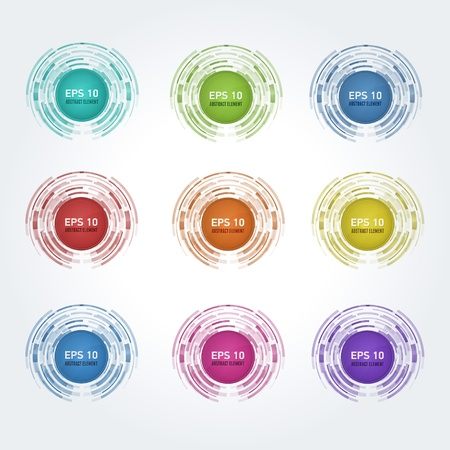 Set of multicolor  design elements for web  Stock Vector - 14230000