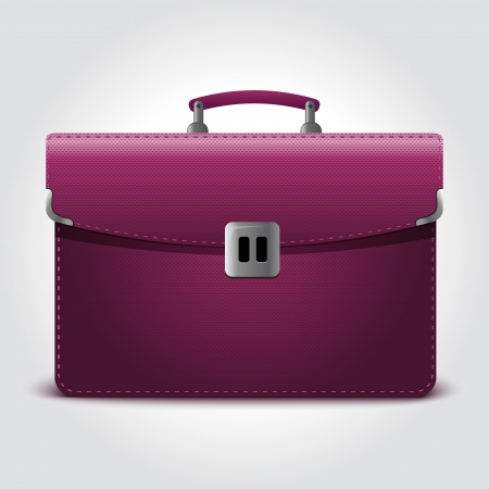 suit case: Business briefcase isolated on blue background