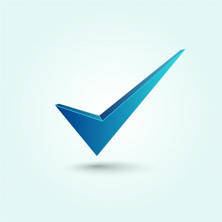 check: Blue check mark symbol Illustration