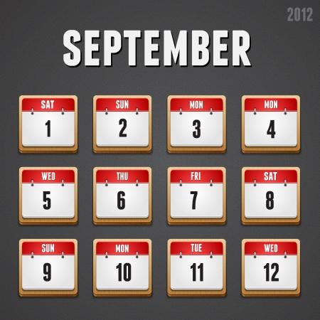 week end: Conjunto de iconos de calendario rojos de alto detalladas