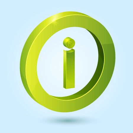 Green info symbol isolated on blue background. This icon is fully editable. Stock Vector - 16782891