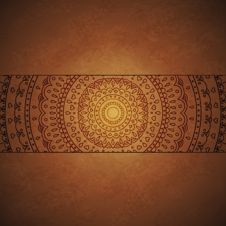 Vintage mandala ornament cover Vector