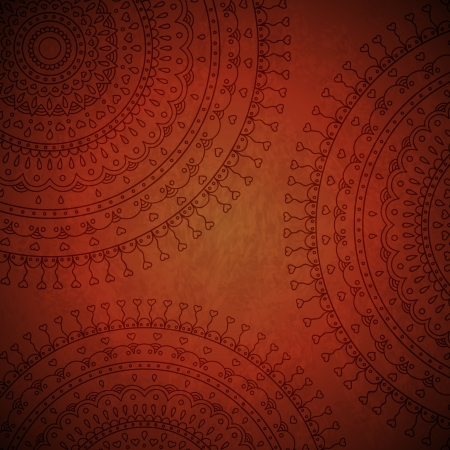 Red mandala ornament background