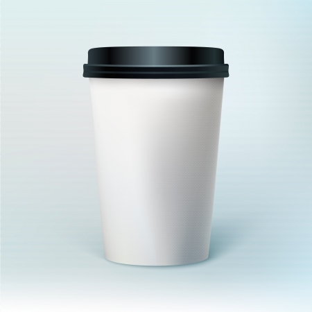 cup of coffee: Blank coffee cup