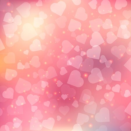 Abstract bokeh heart background