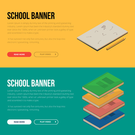 Flat design vector illustration concepts of education and online learning. Concepts for web banners and printed materials.
