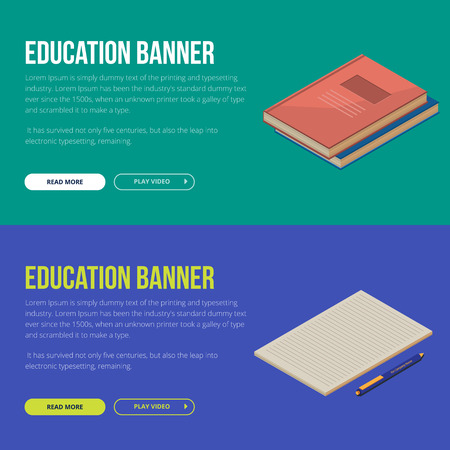 Flat design illustration concepts of education and online learning.