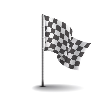 kart: Racing flags isolated on light background. Speed flags for web sites, flyers and printing. Illustration