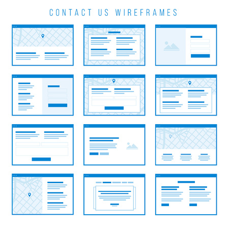 contact information: Contact us Wireframe components for prototypes.