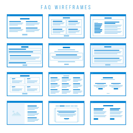 FAQ Wireframe components for building prototypes. Illustration