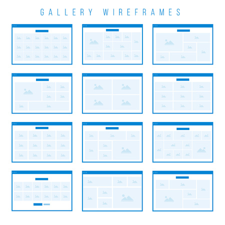 Gallery Wireframe components for prototypes. Illustration