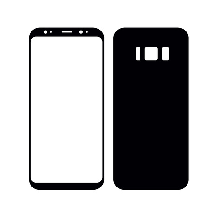 Concept Realistic smartphone. Perfect to present your screen design application. Vector Illustration Stock Photo