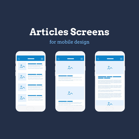 Mobile App Wireframe Ui Kit. Detailed wireframe for quick prototyping. Illustration