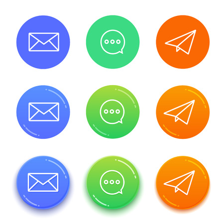 Live chat conversation icons. Message vector icons Illustration