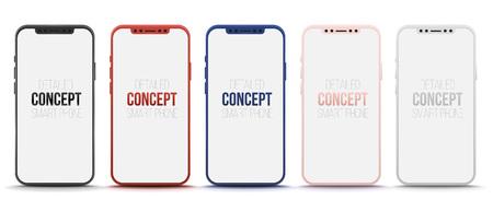 Set of realistic smart phone concept Illustration