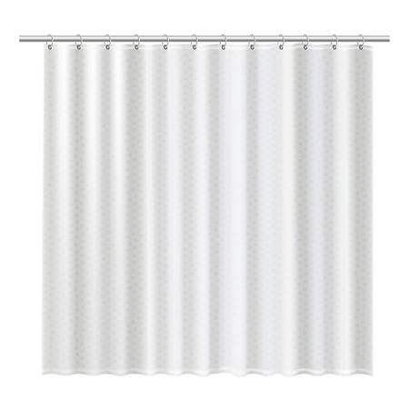 Blank shower curtains mock up to show your design.