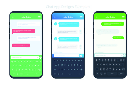 Set of Social network chat window concepts