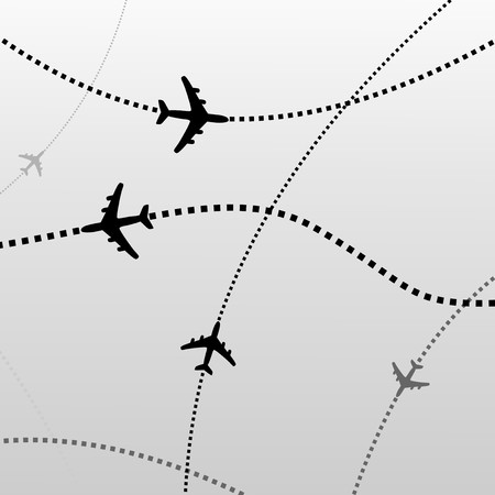 airport: Airplane lines Illustration