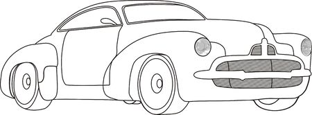 Car in black and white Illustration