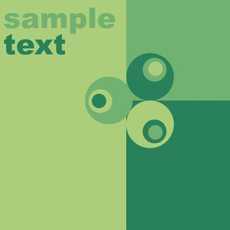Retro green background  Vector