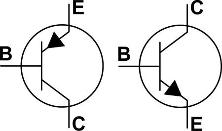 Transistor NPN PNP symbols  Illustration