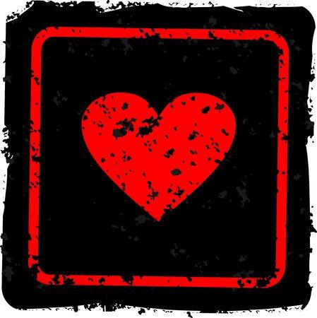 herz: Grunge heart  Illustration