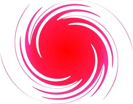 Red spiral  Illustration