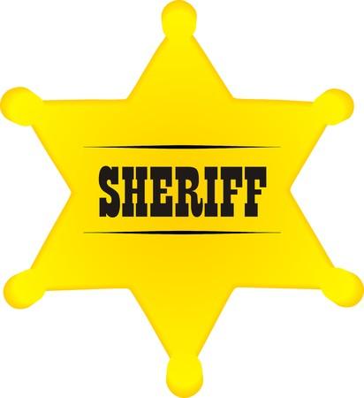 Sheriff badge  Illustration