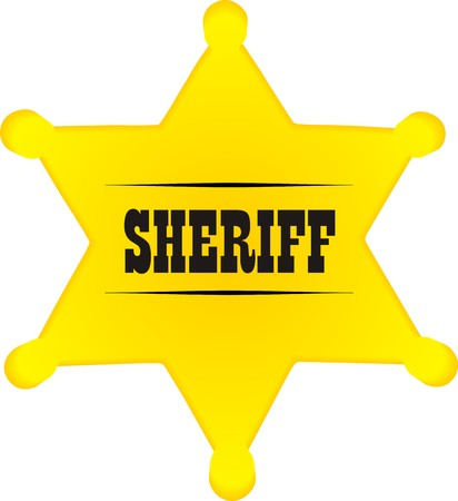 sh�rif: Sheriff badge Illustration