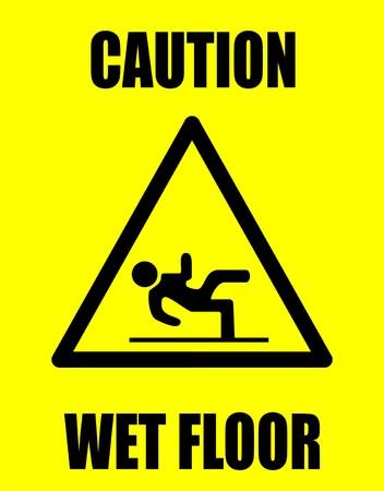 wet floor caution sign: Piso h�medo
