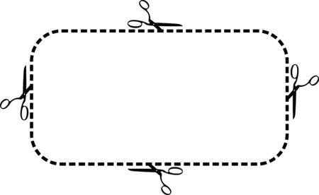 ciach: Nożyczki ramki