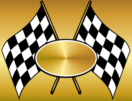 checkered flag: Flag telaio finitura  Vettoriali
